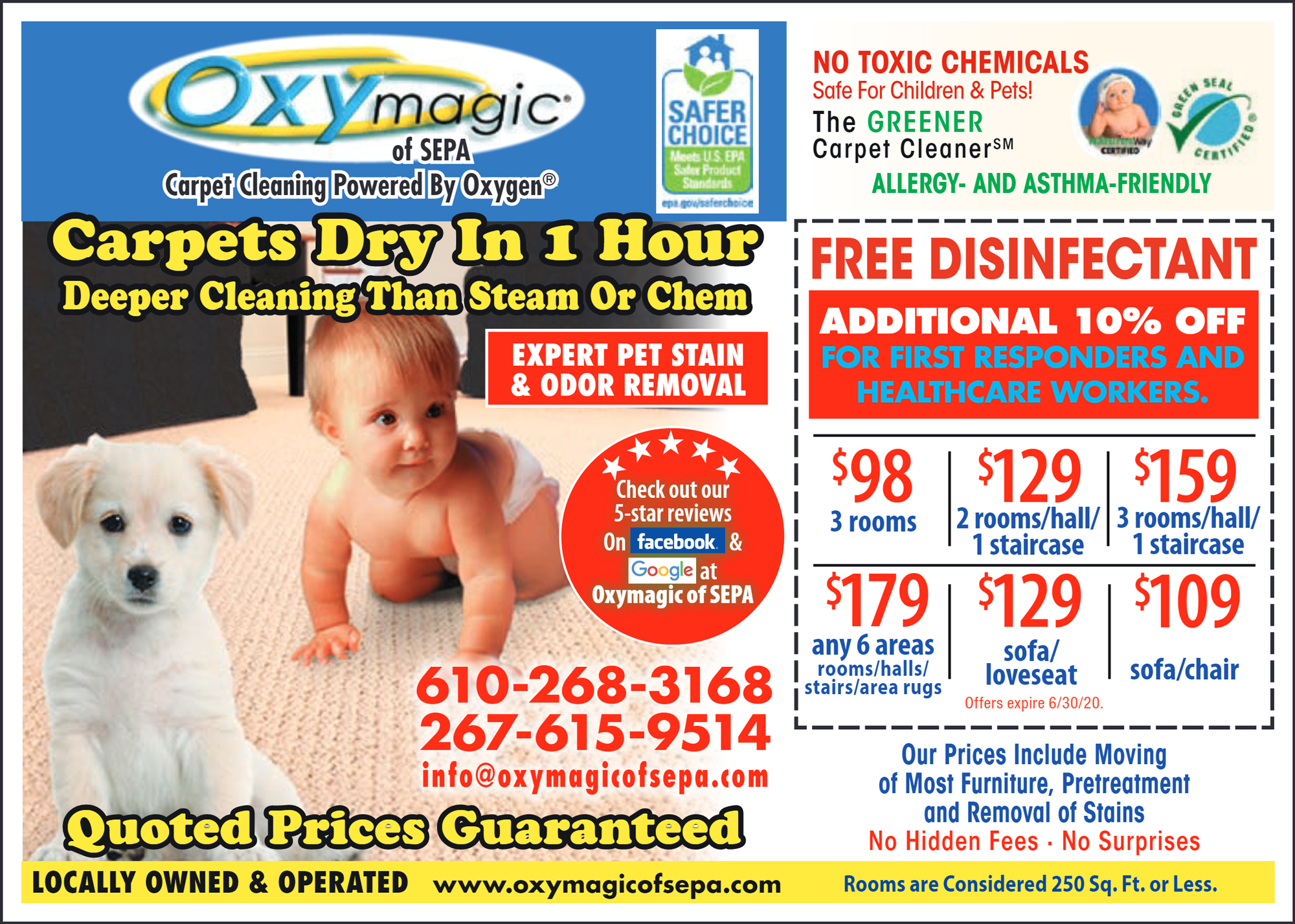 Specials Oxy Magic Of Sepa Carpet Cleaner Amp Green